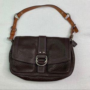 🔥 Coach Soho Hampton Pebbled Leather Hobo Bag D4